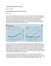 10-7-2010 Economist special report on the world economy