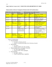 Study Guide for Lecture 4 & 5