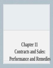 M33_Chapter 11_Contract and Sales_Performance and Remedies