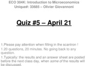 Quiz 5 - Aril 21 WITH ANSWERS