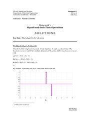 hw 1 - Solutions