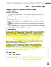 CHAPTER 01 - Organizations And Organizational Effectiveness (1)