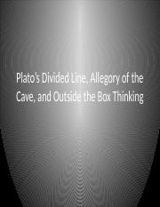 Plato's Divided Line and Allegory of the Cave