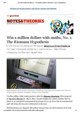 Win a million dollars with maths, No. 1_ The Riemann Hypothesis _ Matt Parker _ Science _ theguardia