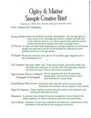 Creative95brief95lexus95copy ogilvy mather sample for Ogilvy creative brief template