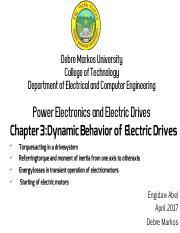 ECDE ECEG4222 : Power electronics and drives - ዸብረ