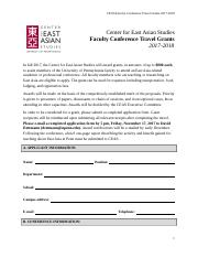 CEAS Faculty Conference Travel Grant Application_2017_2_0.doc