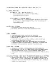 Asset Classifications and Rules