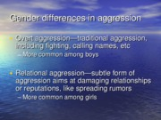 Gender differences slides