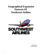 Final Project Essay - Southwest Airlines Geographical Expansion