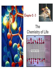 #1-Ch 02 -03 Chemistry and Water