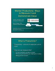 Woirker_Productivity