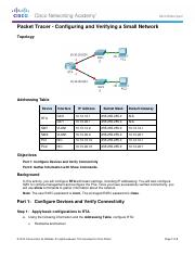 4.1.4.5 Packet Tracer - Configuring and Verifying a Small Network Instructions-mbrown