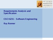 2. Requirements Analysis and Specification (1)