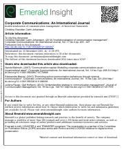 Institutionalization of communication management - A theoretical framework.pdf