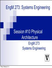 Lecture #10 Physical Architecture.pdf