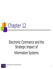 ch12 Electronic Commerce and the Strategic Impact of Information Systems