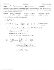 172sP EXAM 1 SOLUTIONS