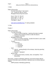 ACCT 2001 Anderson Exam 1 Notes
