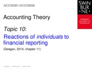 Topic 10 - Reactions of individuals to financial reporting - Chapter 11 (2)