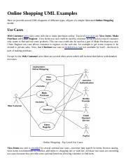 12 pages online shopping uml examples - Context Diagram In Software Engineering