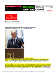 Russia, Israel and the Middle East_ Vladimir Putin and the holy land _ The Economist