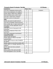 Evaluation Checklists