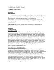 Week 1 Project Module - Team 3 - Under Armour.docx
