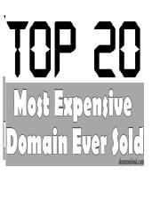 Top 20 Most Expensive Domain Names.pptx
