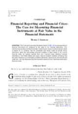 Financial Reporting and Financial Crises The Case for Measuring Financial Instruments at Fair Value