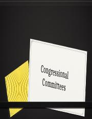 Congressional Committees and How a bill becomes a Law.pptx