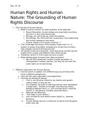 Human Rights and Human Nature- Lecture#1- Sept.19.docx