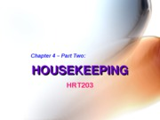 Chapter 4. Housekeeping (Part Two) -BB