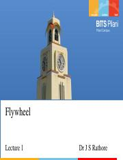 Lecture 20 - Flywheel