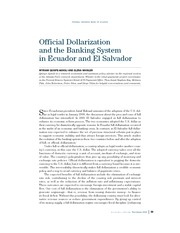 Dollarization in Ecuador (highly useful)