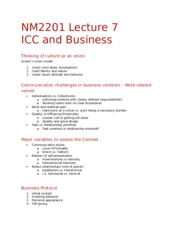 NM2201 Lecture 7 - ICC and Business