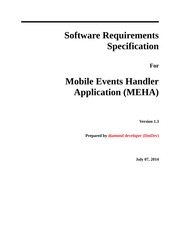 Events Handler Specification doc