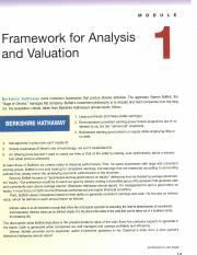Module 1_ Framework for Analysis and Valuation