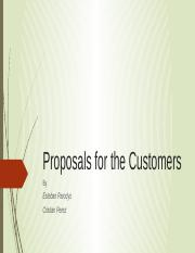 Proposals for the Customers.pptx