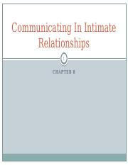 8 Communicating in Intimate Relationships