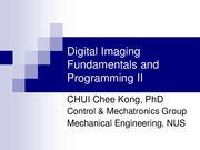 Digital Imaging Fundamentals and Programming II_single slide
