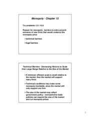 chap13 Lecture notes on monopoly