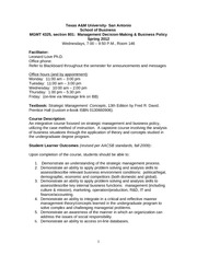 MGMT 4325 - Management Decision-Making  Business Policy (Spring 2012 -2)(1)-2