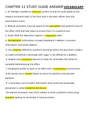 CHAPTER 11 STUDY GUIDE ANSWER KEYVOCABULARYREVIEWFillin the blanks with the correct vocabulary terms