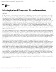 "Ideological and Economic Transformations â€"" North American Indians"