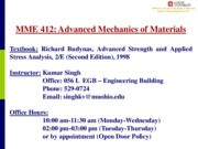 Introduction Mechanics of Materials