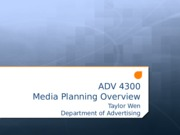 Media Planning Overview .pptx