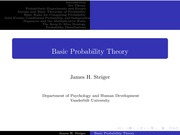 Psychology 2101_Lectures Notes on Introduction to Probability