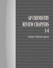 AP Chemistry Review Chapters 1-4