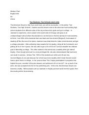Two Students, Two Schools short write